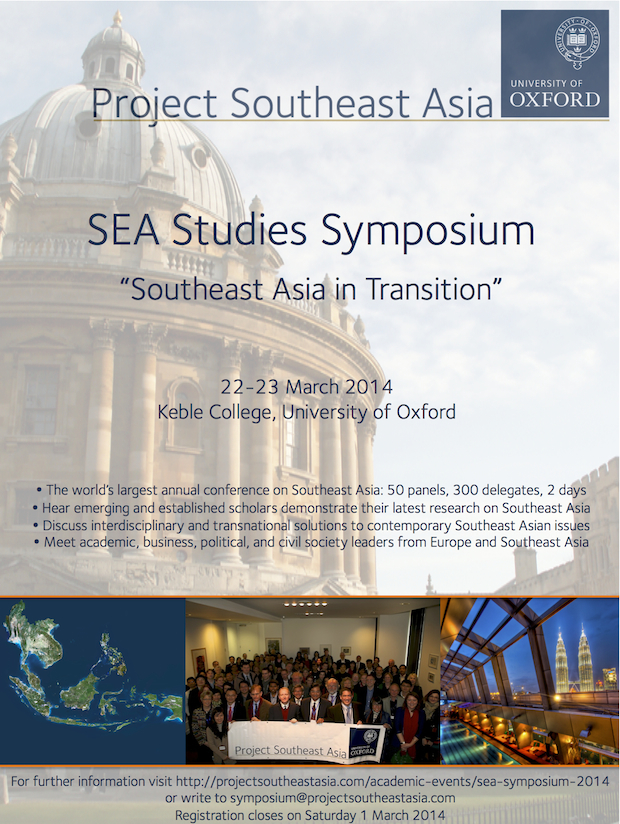 SEA Symposium Flyer